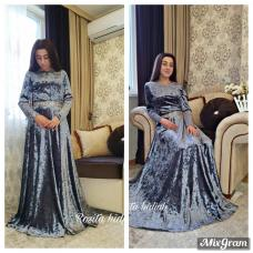 Нарядное платье из королевского велюра